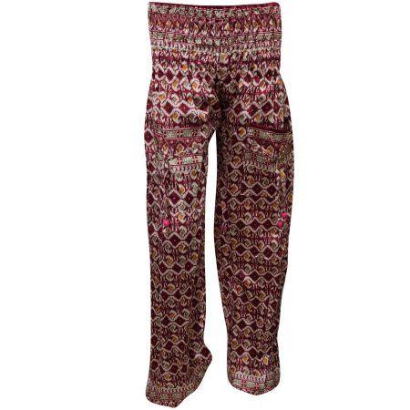 fa5077005137 Mogul Women s Pants Maroon Floral Print Trousers Harem Clothing https   www. walmart