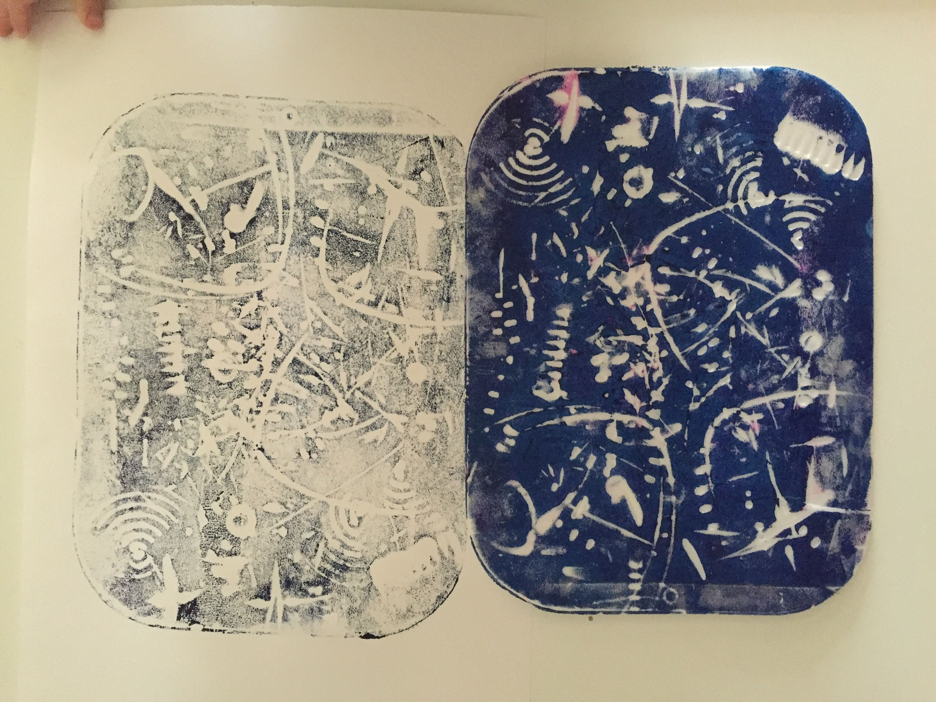 Kitchen utensils drawing for kids - Mono Printing Using Polystyrene From A Pizza Art Ideas For Toddlers We Used Kitchen