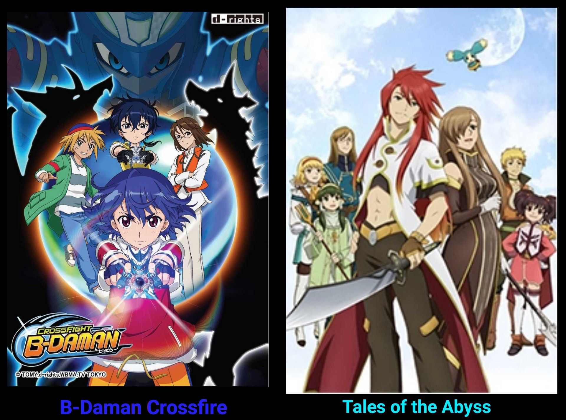 Bdaman crossfire tales of the abyss anime art tales