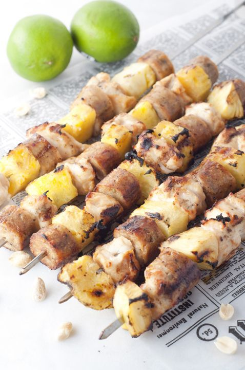 Pineapple Chicken Sausage Kabobs Easy, protein-packed Hawaiian Chicken Pineapple Sausage Kabobs recipe is a fabulous and fool-proof way to serve up a complete dinner on the grill this summer!Easy, protein-packed Hawaiian Chicken Pineapple Sausage Kabobs recipe is a fabulous and fool-proof way to serve up a complete dinner on the grill this summer!