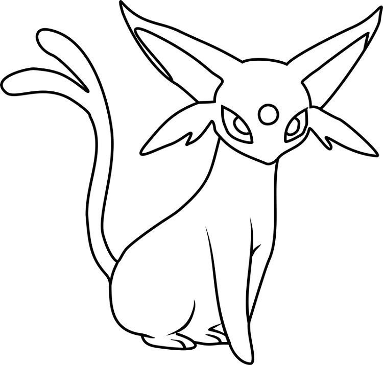 Pokemon Coloring Pages Espeon Pokemon Coloring Pages Pokemon Coloring Pokemon Drawings