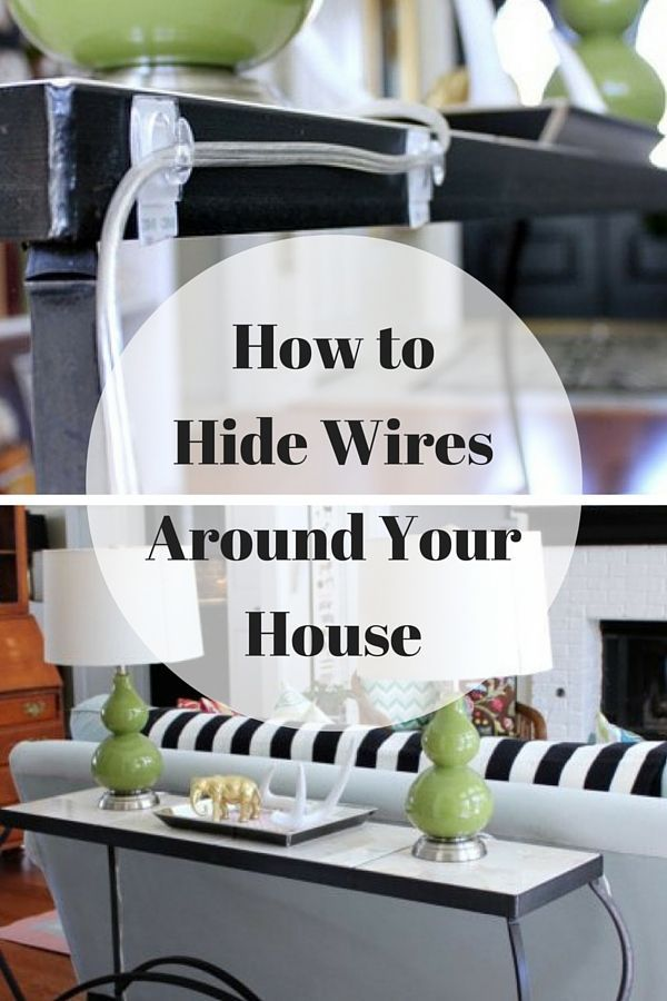 Ingenious Ways to Hide Wires Around the House You've cleaned and decluttered, but you're still not sure how to hide wires in your house. Here are 6 ingenious ways to hide wires and get your home looking neat.At Home  At Home may refer to: