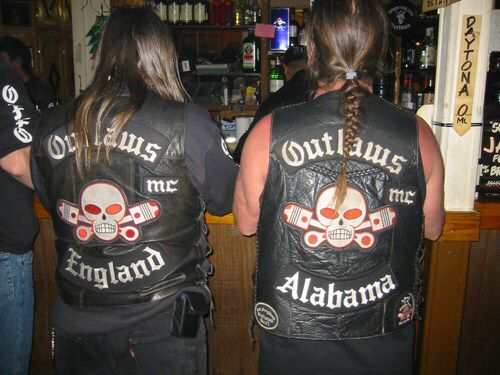The 2 Birmingham Chapters of the Outlaws MC, Birmingham England