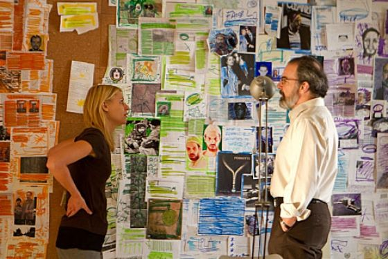 Homeland's Carrie Mathison, and her bipolar wall charts proving insane conspiracies