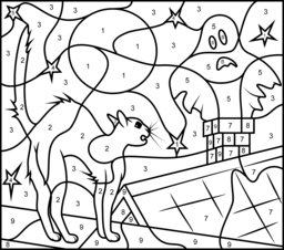 halloween coloring page by numberhalloween coloring pages are very nice kids ideasenjoy this collection of printable halloween color by number pages for - Halloween Colour By Numbers