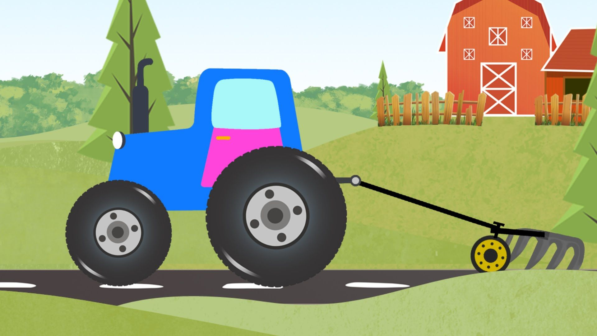 Coloring Book | Farm Vehicles | Colors For Kids #farmvehicles ...