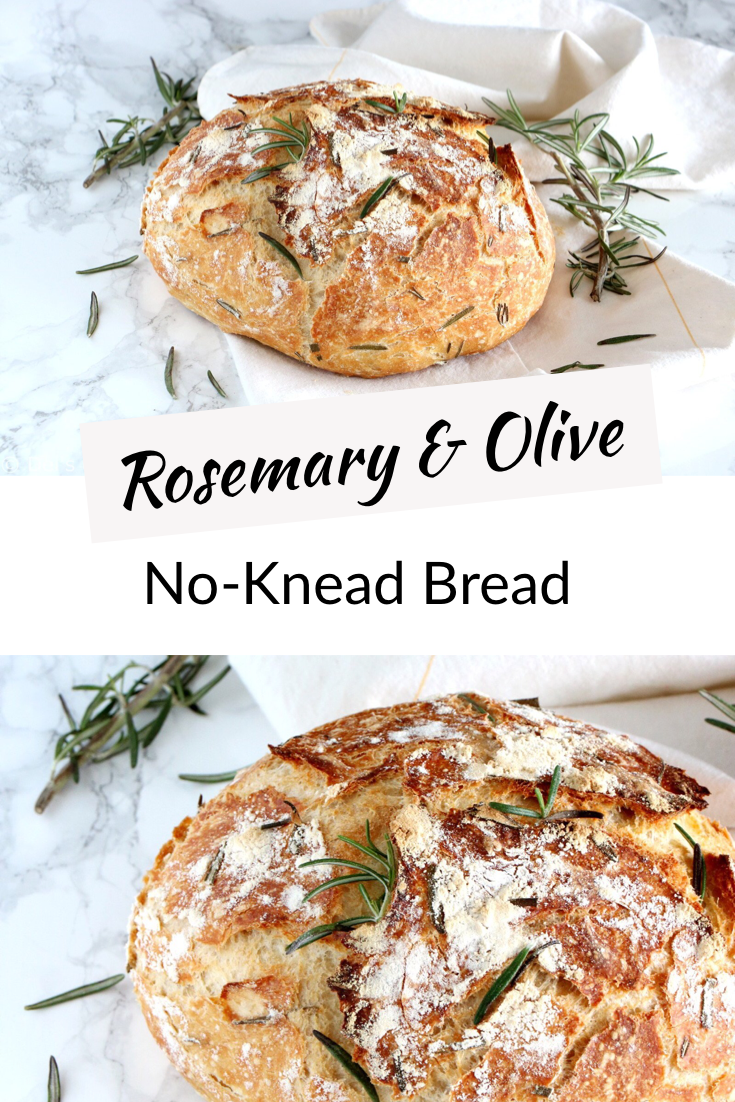 Rosemary & Green Olives No-Knead Bread | Del's cooking twist – Carey&CleanEatingS