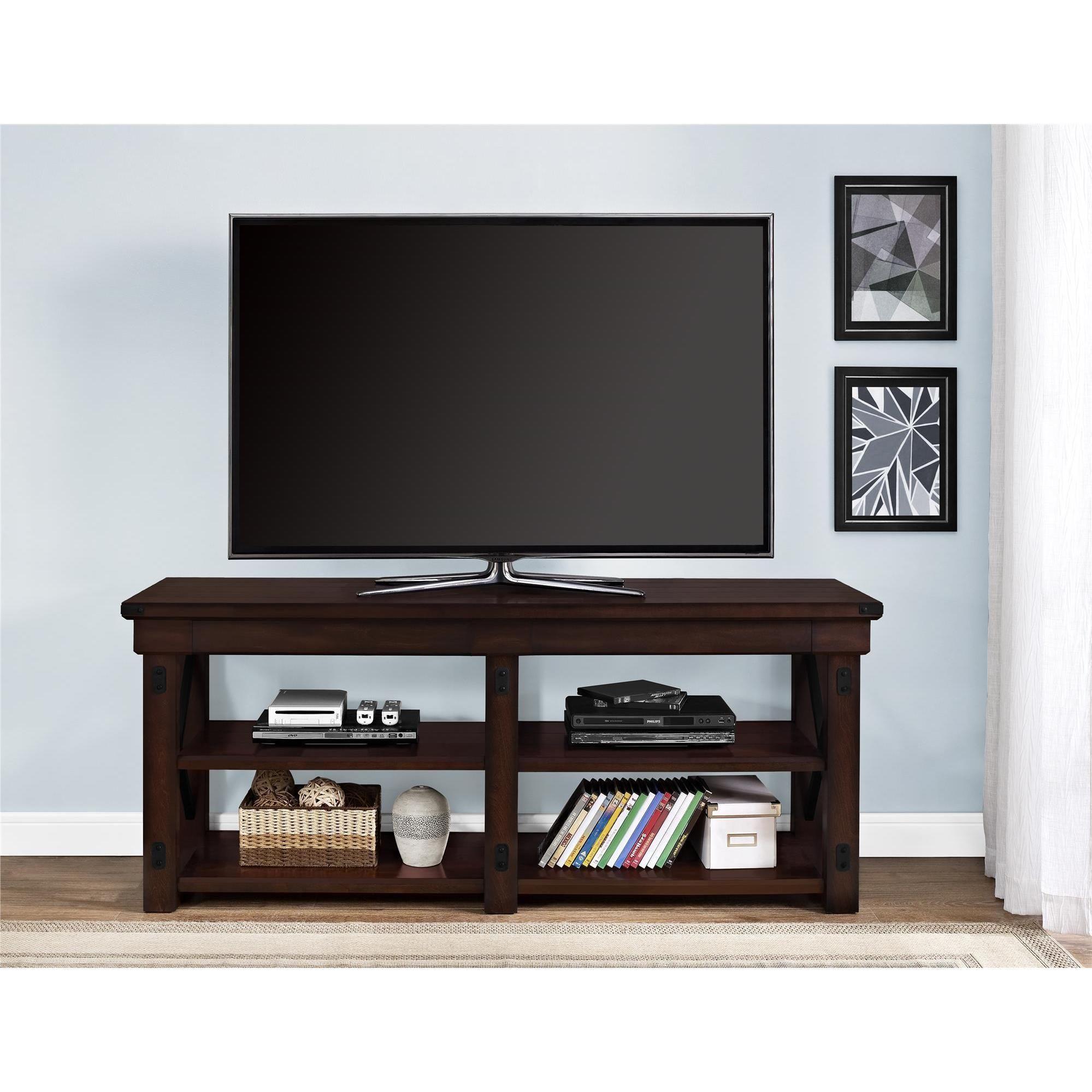 Altra Wildwood Mahogany Veneer 65 inch TV Stand 65 inch TV stand