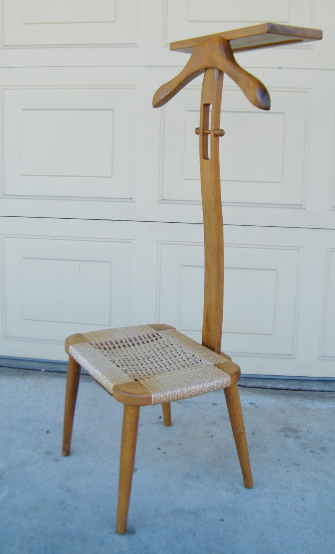 Vintage Amcrest Valet Chair Wegner Style Valet Chair Wegner