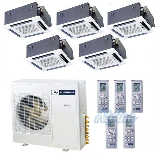42kbtu Condenser And 5 Casettes Heat Pump System Lake House Hvac