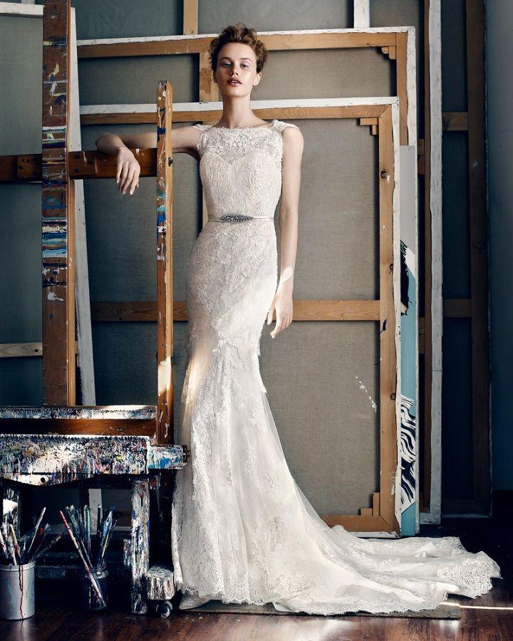 Lusan Mandongus elegant mermaid wedding dress with luscious detailing
