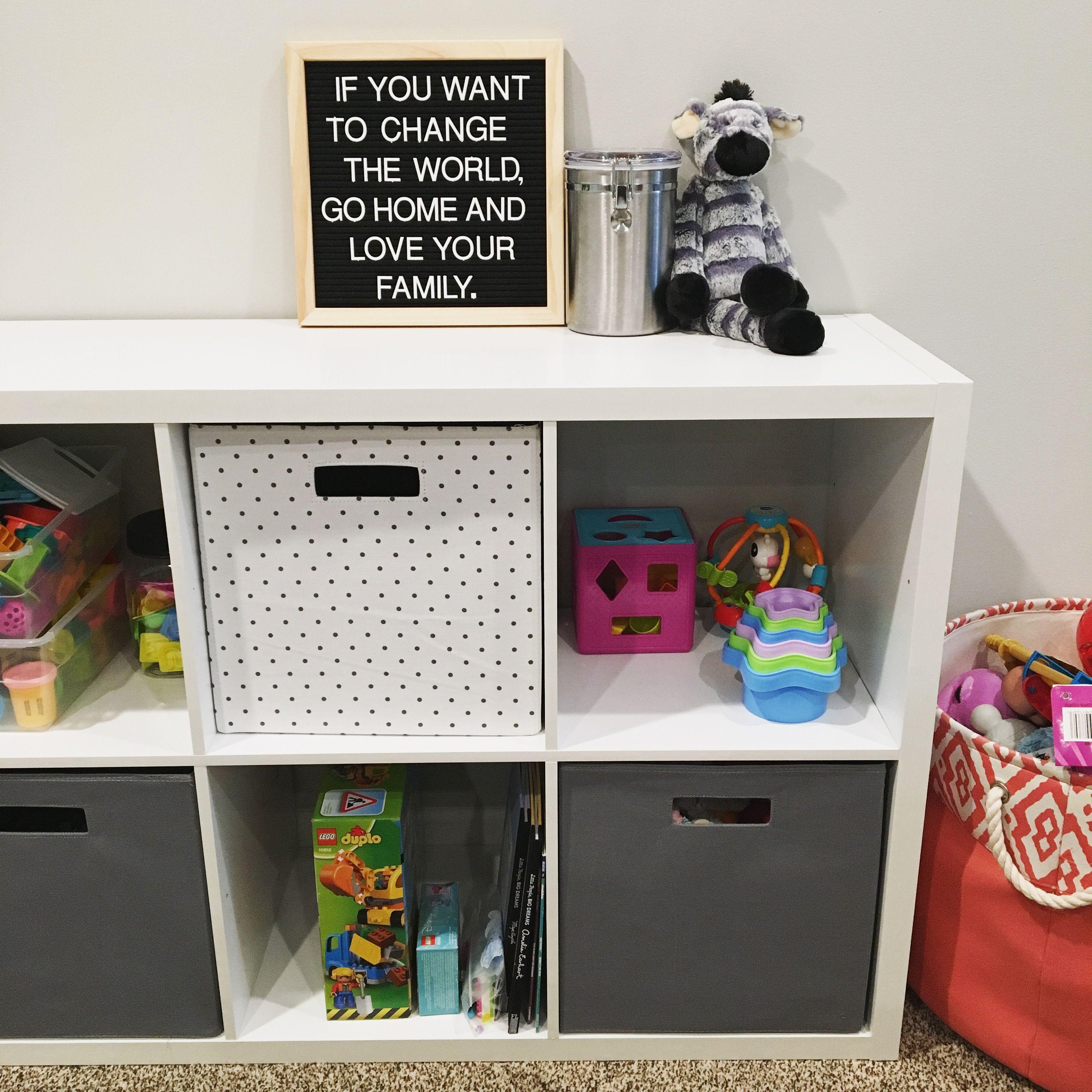 Best Toy Storage Shelves Bins From Target Threshold Brand Very Simple To Put Together And My Fav Felt Let Shelf Bins Toy Storage Locker Storage
