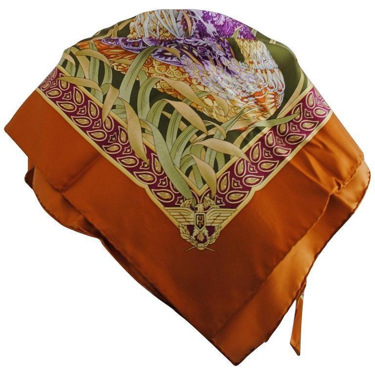Salvatore Ferragamo Multicolour silk foulard  scarf - vintage designer fashions at www.RubyLUX.com @shoprubylux
