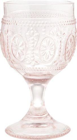 Dekoratives Weinglas in Rosa - ein Blickfang in klassischer Optik