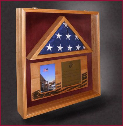 22x22 With 3x5 Flag Greg Seitz Woodworking Flag Display Case Wood Shadow Box Flag Display