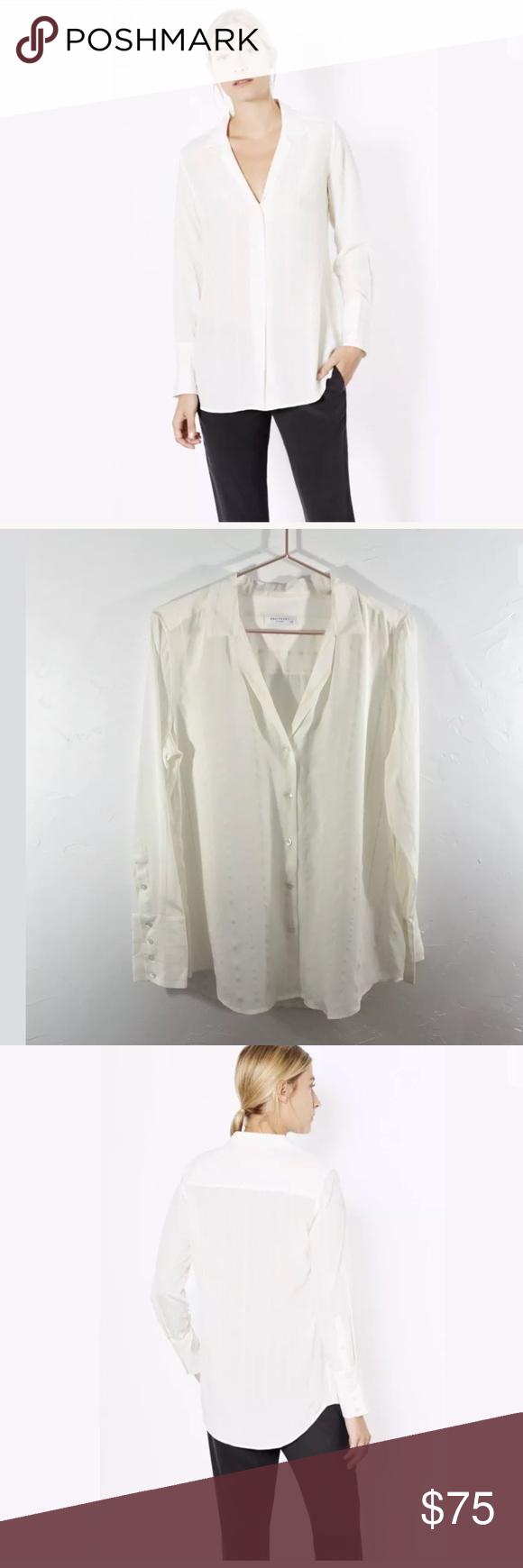 b1cbef919505c Equipment Femme May Striped 100% Silk Shirt Blouse Equipment Femme May  Striped 100% Silk Shirt Blouse Marshmallow Ecru  268 A RELAXED