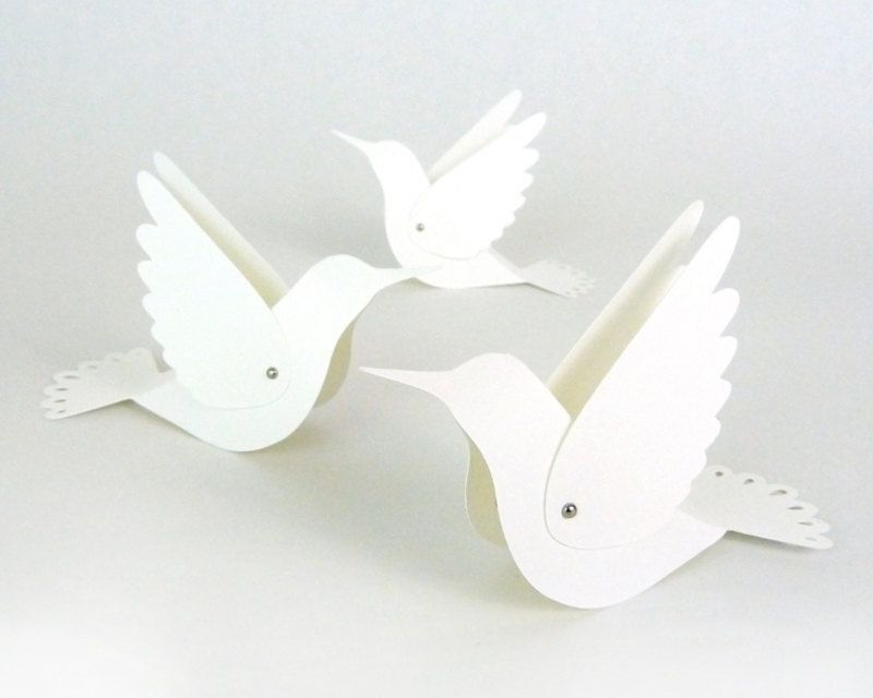 Hummingbird Place Cards - Wedding Escort Cards / Bird Table Cards / Name Tents - Unique - Set of 20 Blank. $35.00, via Etsy.