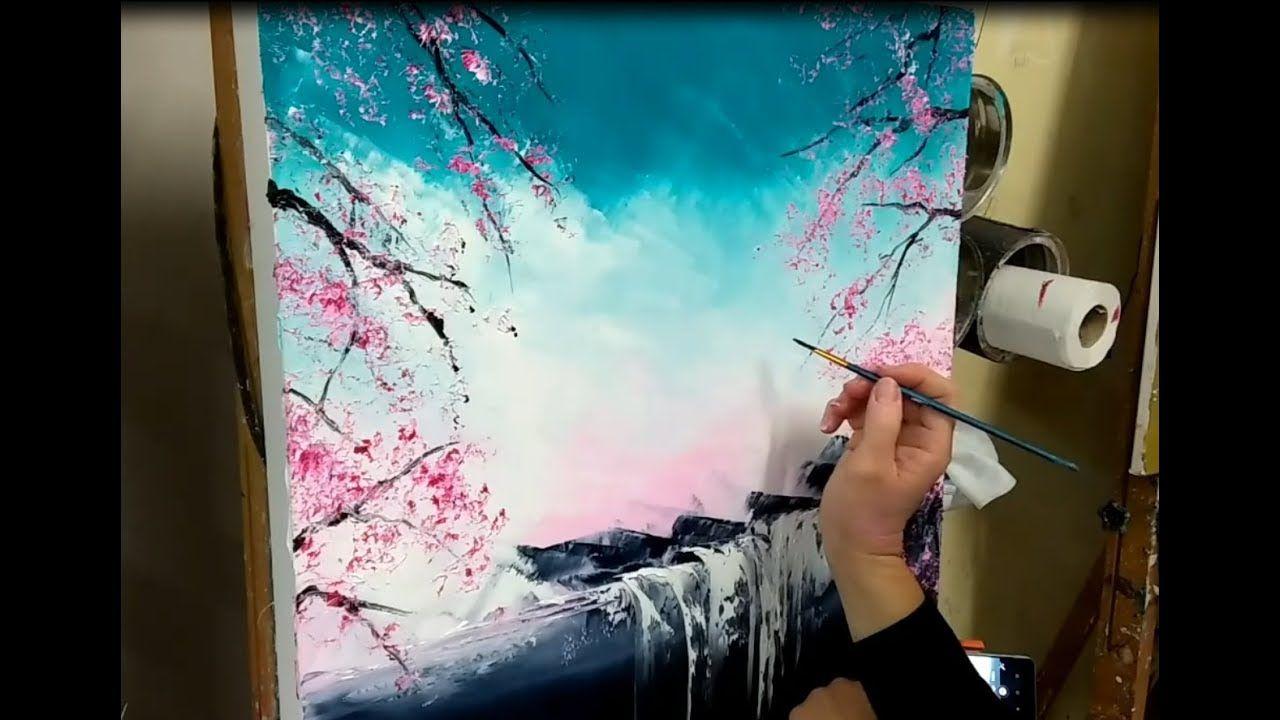 Cours De Peinture Au Couteau Paysage Zen Japonais Par Nelly