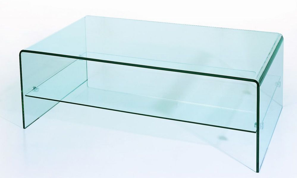 Bent Glass Two Tiered Coffee Table Coffee Table Coffee Table