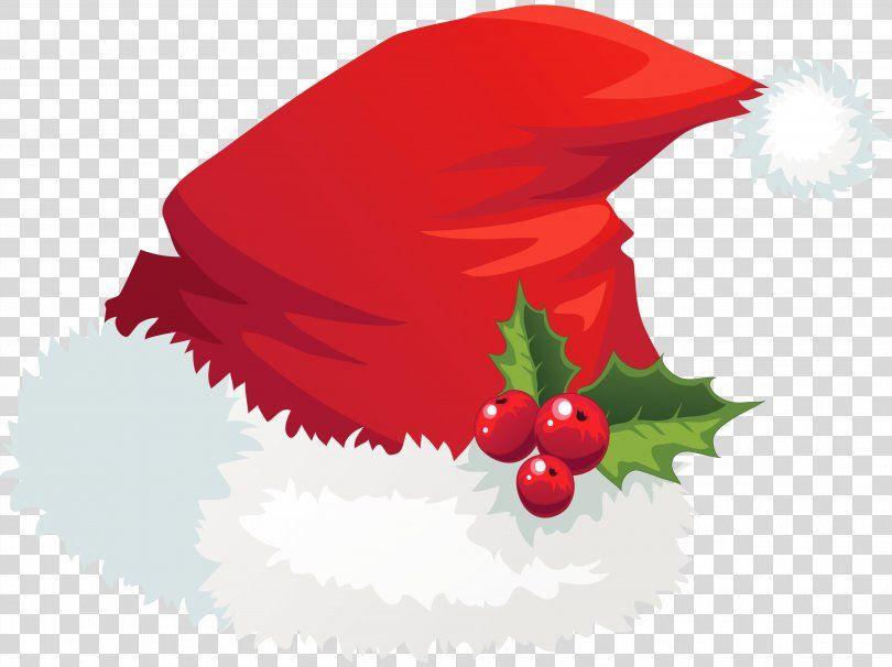 Santa Claus Hat Christmas Clip Art Transparent Santa Hat With Mistletoe Picture Png Santa Claus Cap Chri Mistletoe Picture Christmas Clipart Christmas Hat