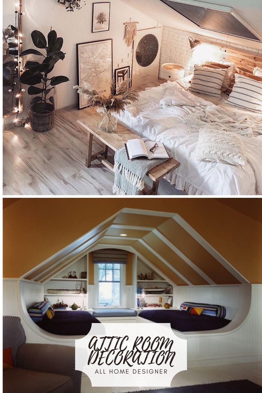 Design Ideas for Your Attic Room   Attic bedroom designs, Attic ...