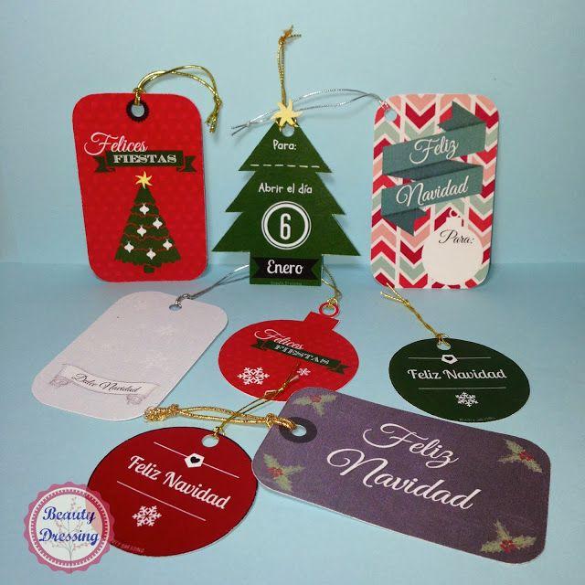 Freebies. Etiquetas craft para regalos de Navidad imprimibles y gratis 2/2