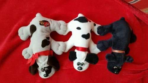 Lot of 3 Vintage Pound Puppies Tonka 1985, 1986 in Toys