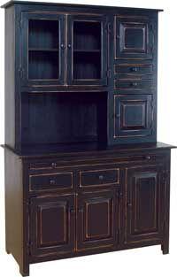 Microwave Hutch Painted In Primitive Heritage Black