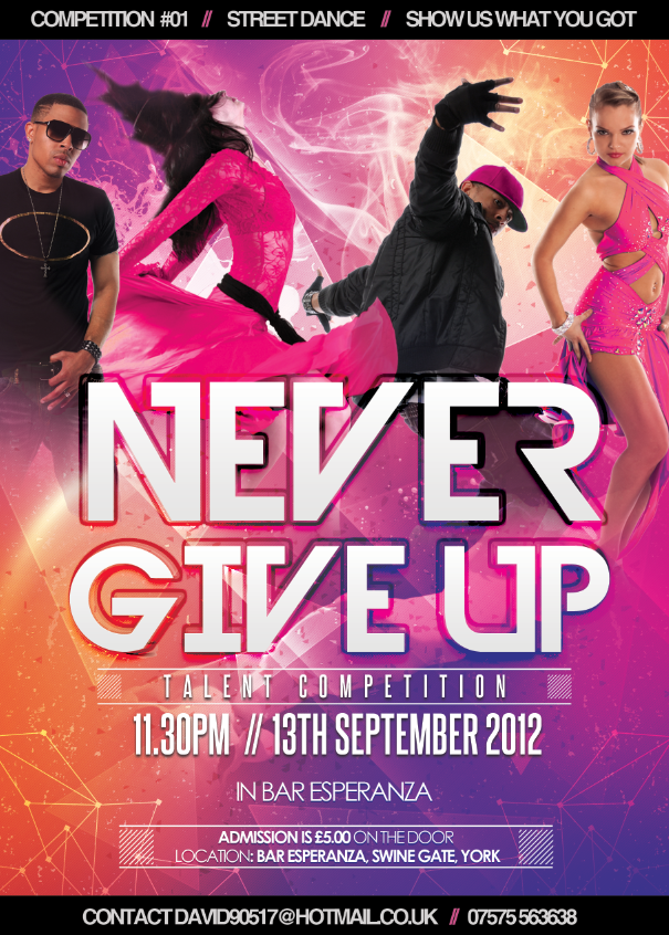Promo Poster For Yorks Latest Dance Competition