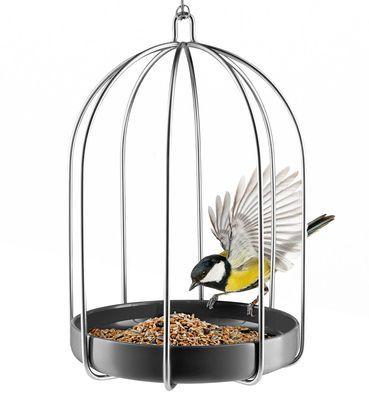 Mangiatoia Per Uccelli Di Eva Solo Grigio Argento Made In Design Eva Solo Futter Design