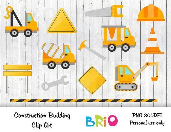 Construction Clip Art/ Building Clip Art/ Construction Hat