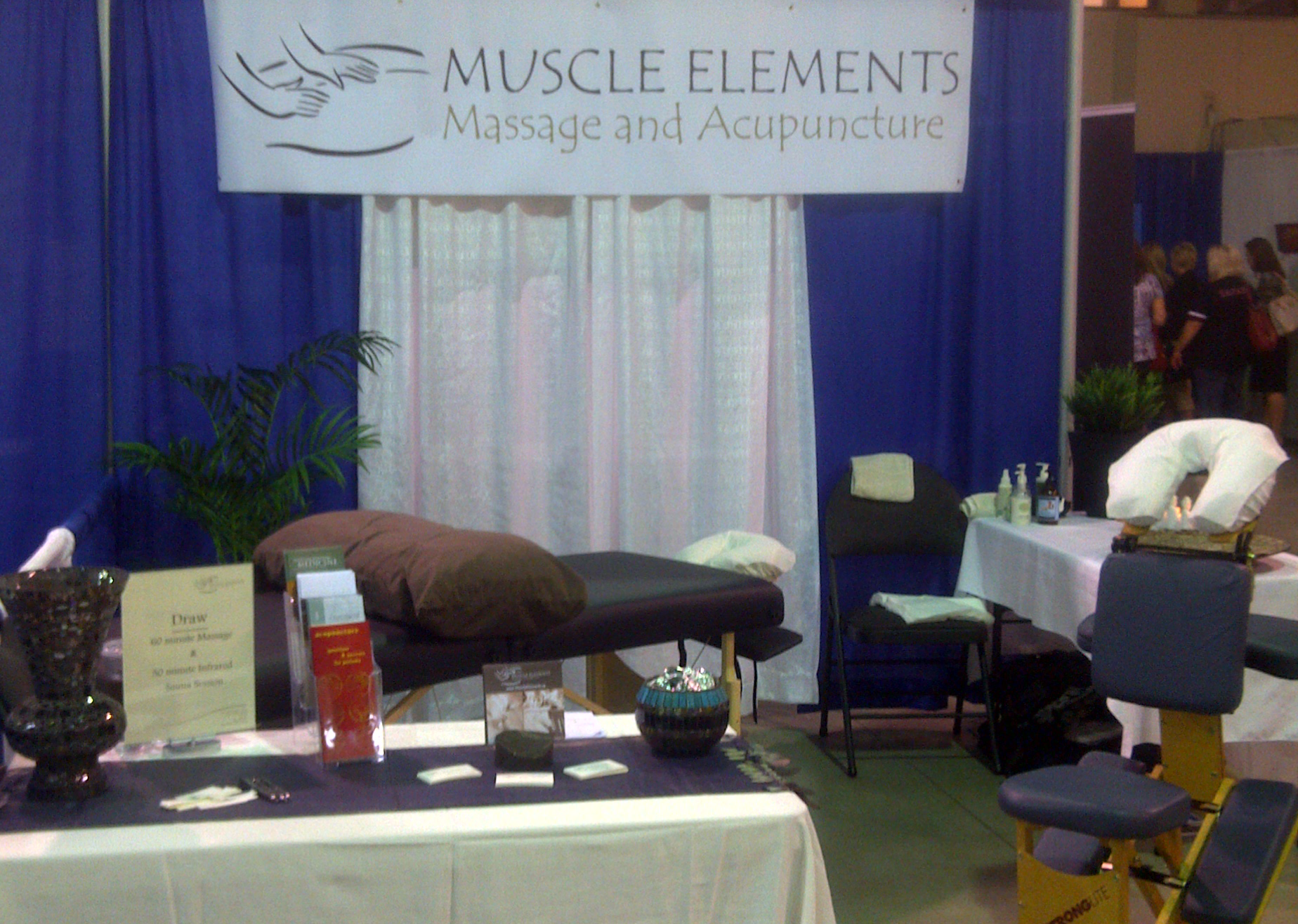 massage health fair booth massage business ideas