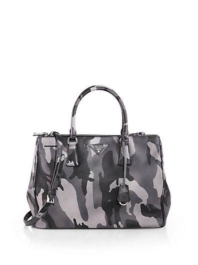0a76f72622d5 Prada - Saffiano Soft Double Zip Tote - Saks.com   Arm Candy   Bags ...