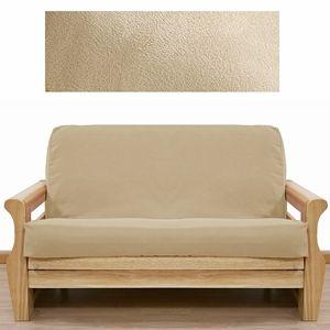 ultra suede cream futon cover  sleepersofa ultra suede cream futon cover  sleepersofa   microfiber and suede      rh   pinterest