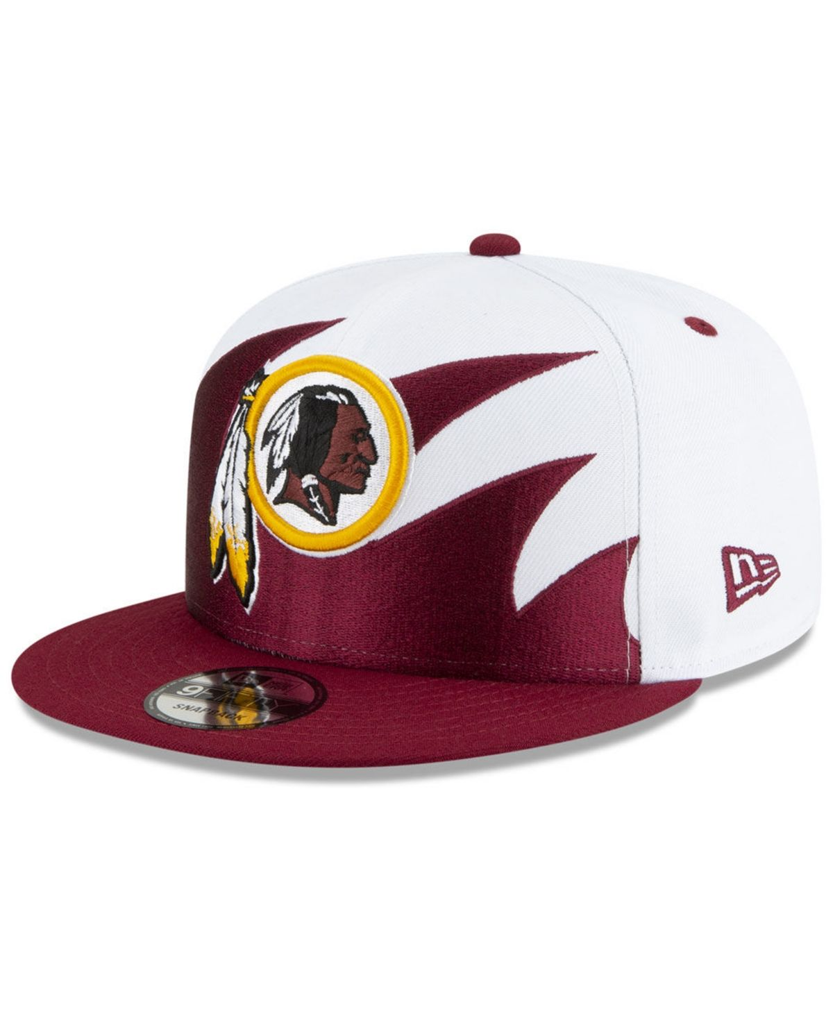 New Era Burgundy Oakland Raiders Shield Logo 9Fifty Snapback Hat