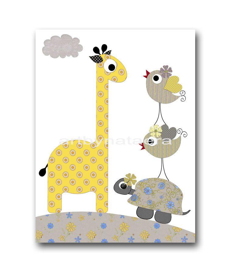 Image detail for -Art for Kids Room Kids Wall Art Baby Girl Nursery ...