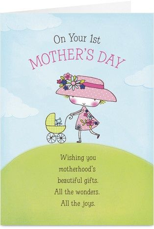 1st Mothers Day Mothers Day Card Mother S Day First Mothers Day Happy Mothers Day Images Mother S Day Card Messages