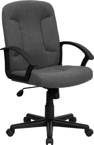 NEW Mid-Back Gray Fabric Task / Computer Chair W/ Nylon Arms Office Furniture