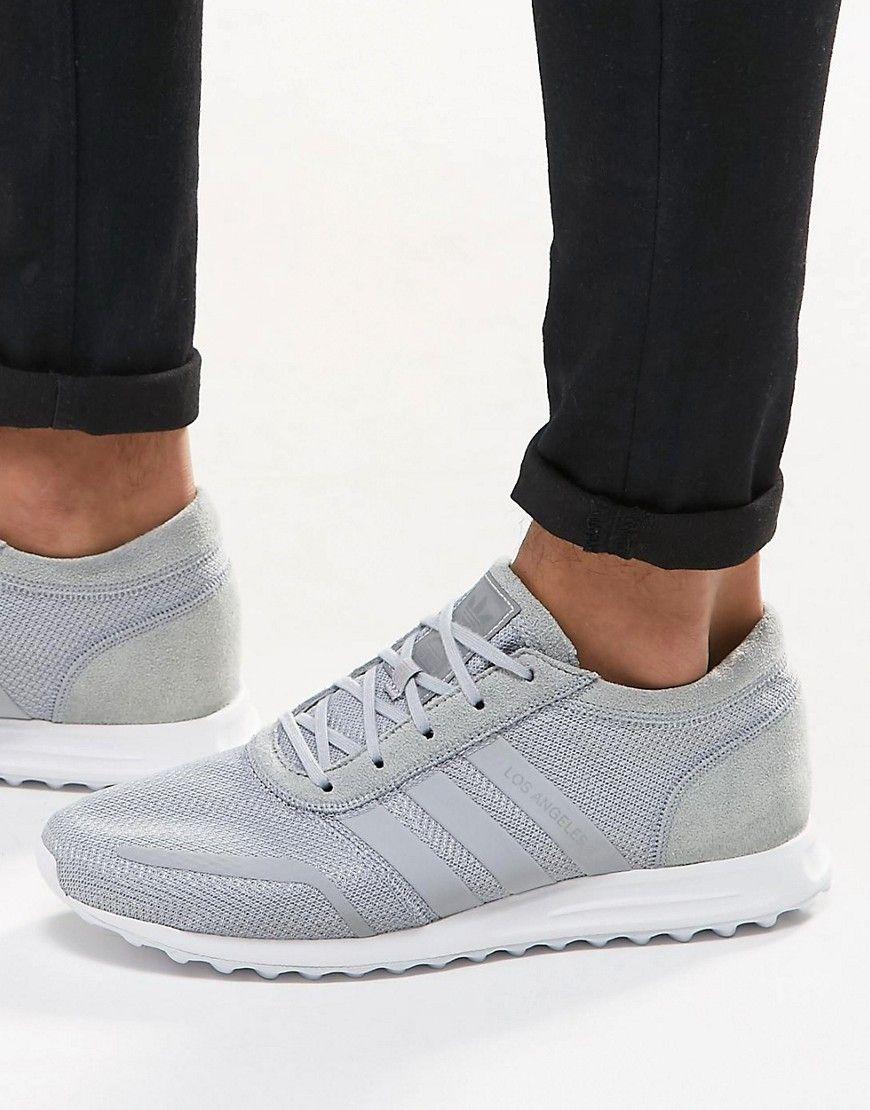 size 40 13c35 22280 adidas+Originals+Los+Angeles+Trainers+In+Grey+S31530