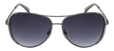 6a1a3542132f NEW Genuine MICHAEL KORS Sadie Crystal Ladies Aviator Sunglasses MK M 2062  S 033