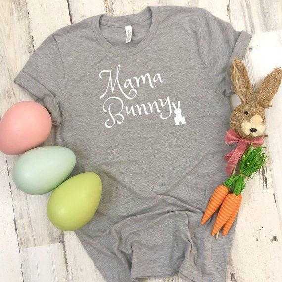 c3389711 Mama Bunny Women's Short Sleeve Tee, Mom Easter T-shirt, Women's Easter T- shirt, Mama Bunny T-shirt,