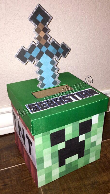 minecraft valentine box - Soccer Valentine Box