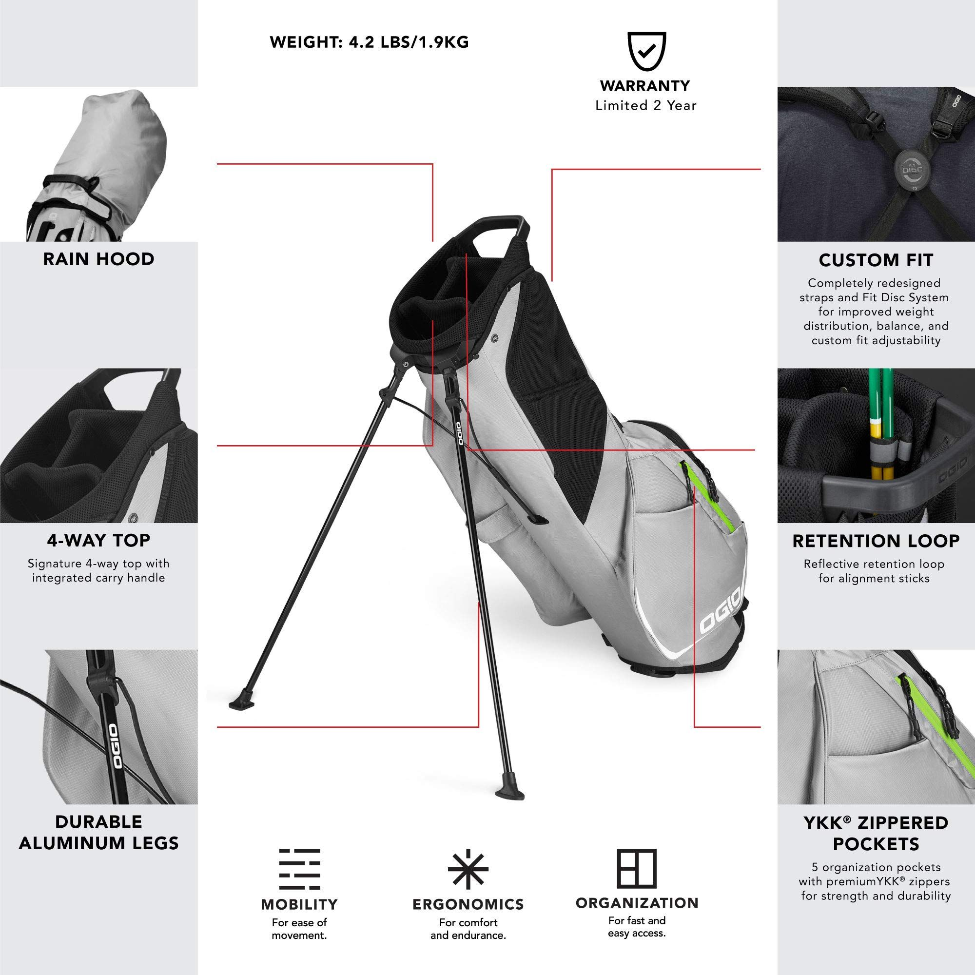 1a4d7728fe0 OGIO SHADOW Fuse 304 Golf Stand Bag Gray     Details can be found by  clicking on the image-affiliate link.  golfclubbags