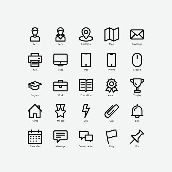 resume icons in vector and png