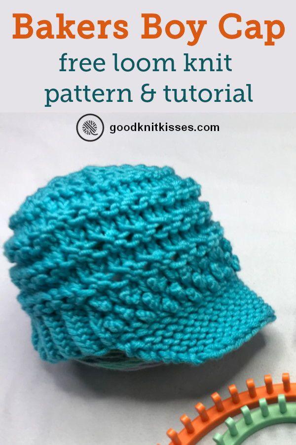 Bakers Boy Cap | GoodKnit Kisses #loomknitting