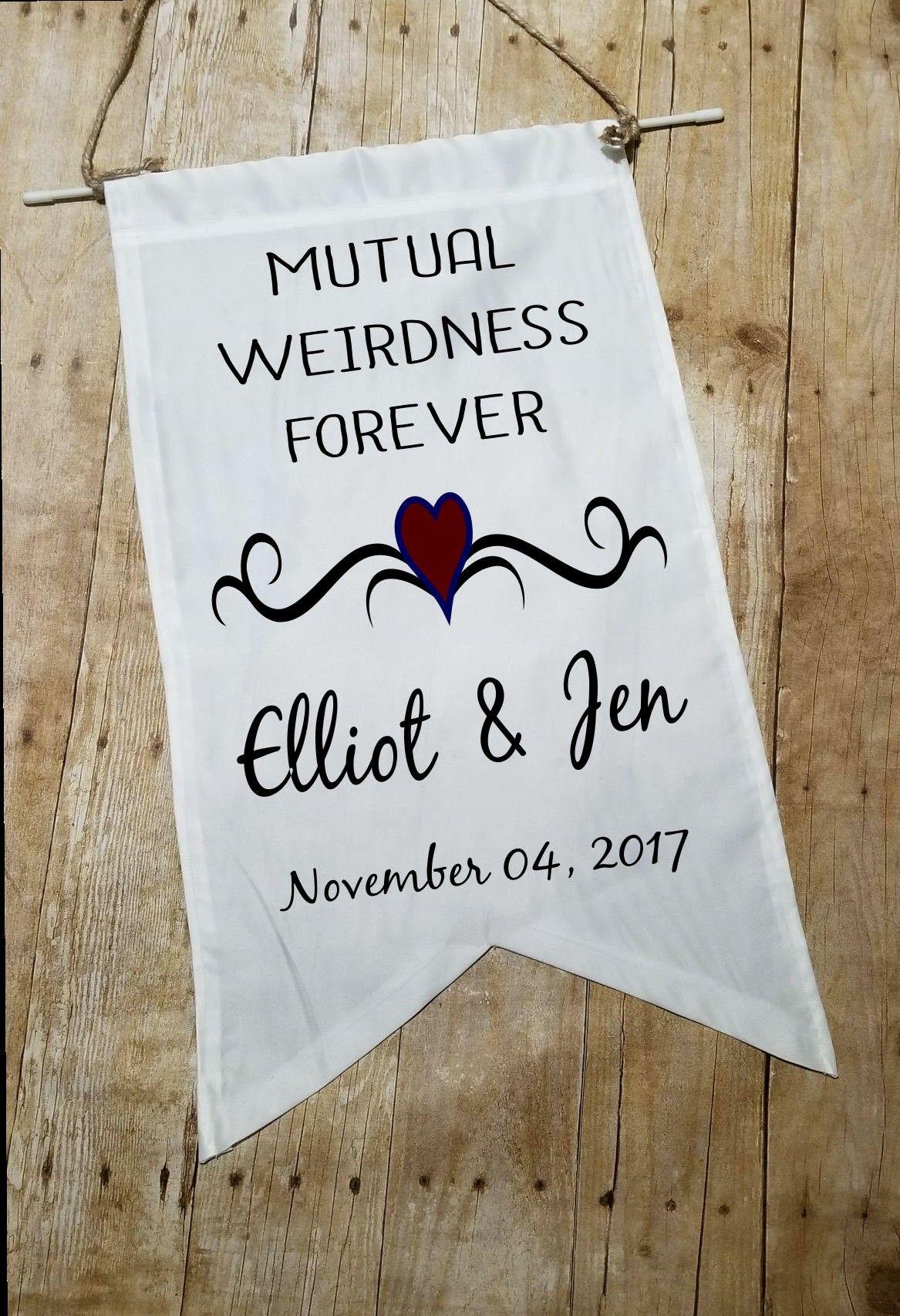 Custom Wedding Banner Hanging Sign Fabric