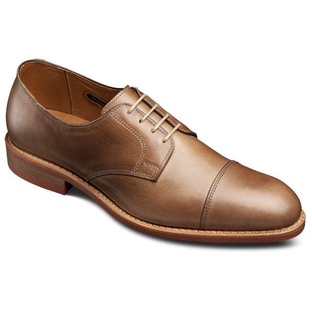 Men's fashion · Allen Edmonds Oak Street Cap-toe Oxfords 4031 Natural  Chromexcel Leather