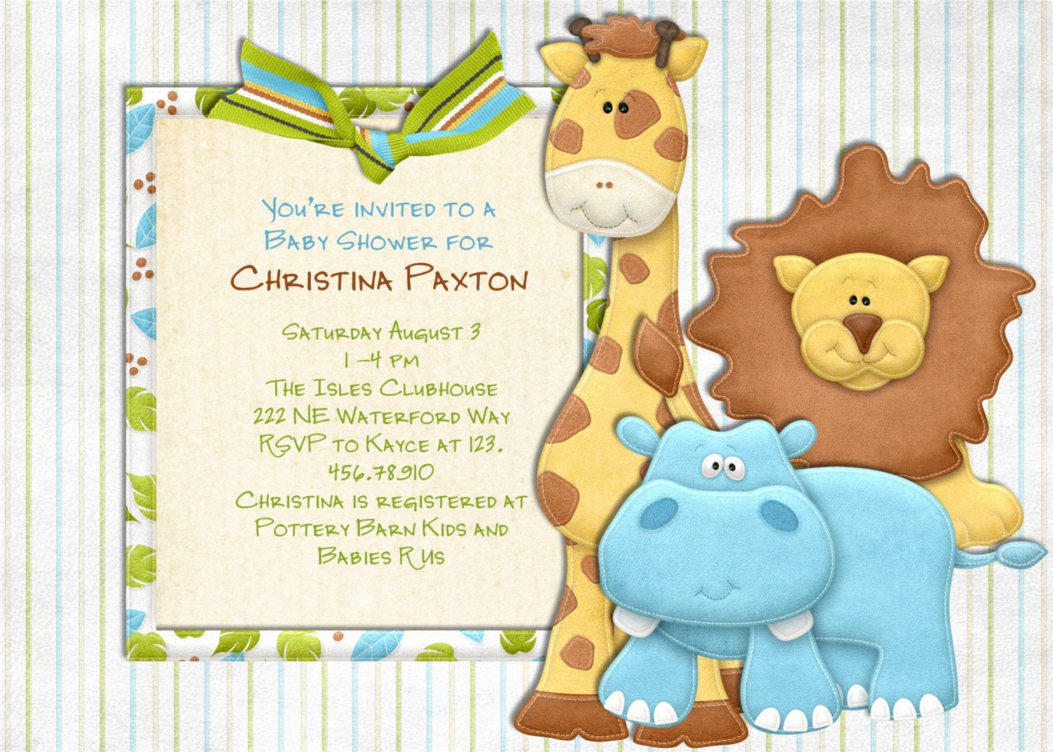 jungle baby shower invitations template Mn3QmVlK Baby