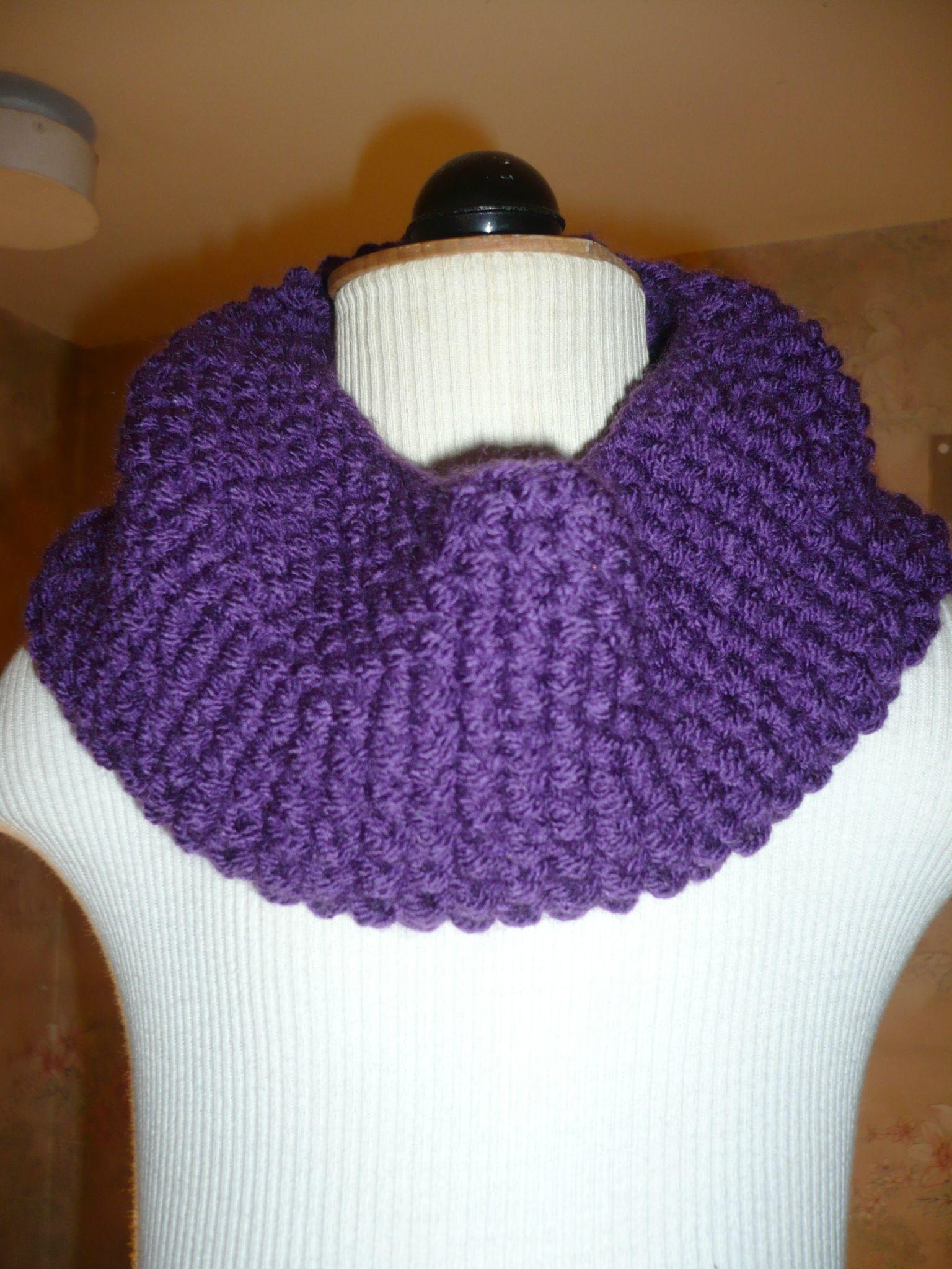 tricoter un snood pour fillette
