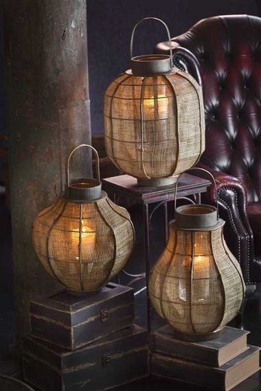 Soft  Woven Lanterns ~Repinned Via Jen Harris